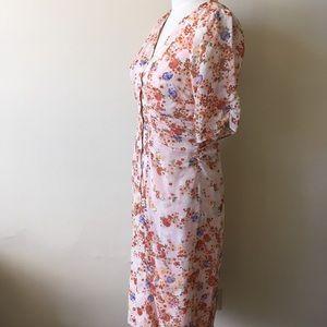 75ad6d6ccfd4 Anthropologie Dresses | 100 Silk Chiffon Floral Dress New Sz S ...